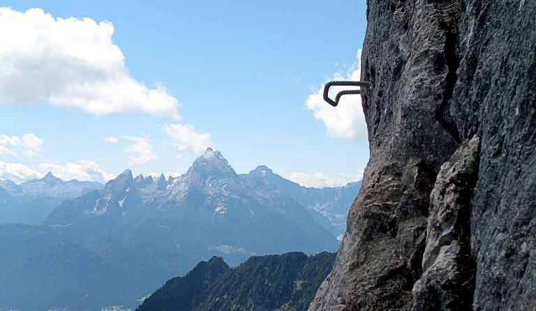 Klettersteig Hochthron : Berchtesgadener hochthron 1973 m über hochthronsteig klettersteig