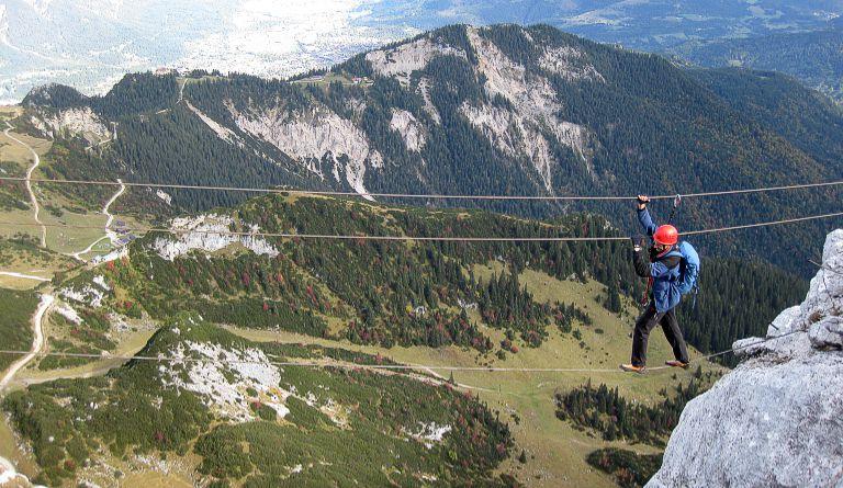 Klettersteig Alpspitze : Bernadeinkopf m über mauerläufersteig klettersteig