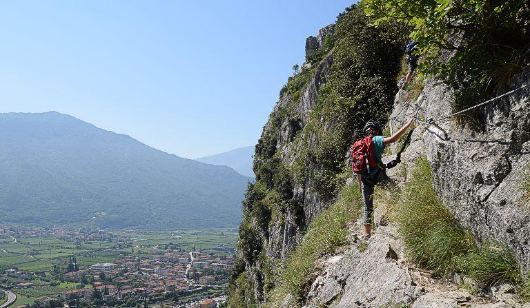 Klettersteig Colodri : Colodri m über sentiero del