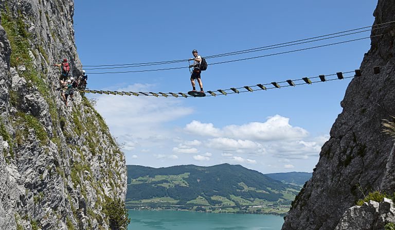 Klettersteig Drachenwand : Drachenwand m klettersteig salzkammergut mondsee Österreich