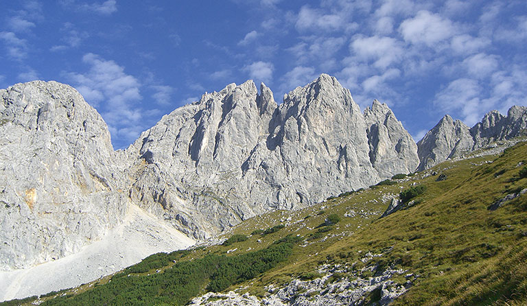 Klettersteig Wilder Kaiser Ellmauer Halt : Ellmauer halt m über gamsängersteig wilder kaiser