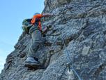 Klettersteig Lachenspitze : Lachenspitze über klettersteig nordwand allgäuer alpen