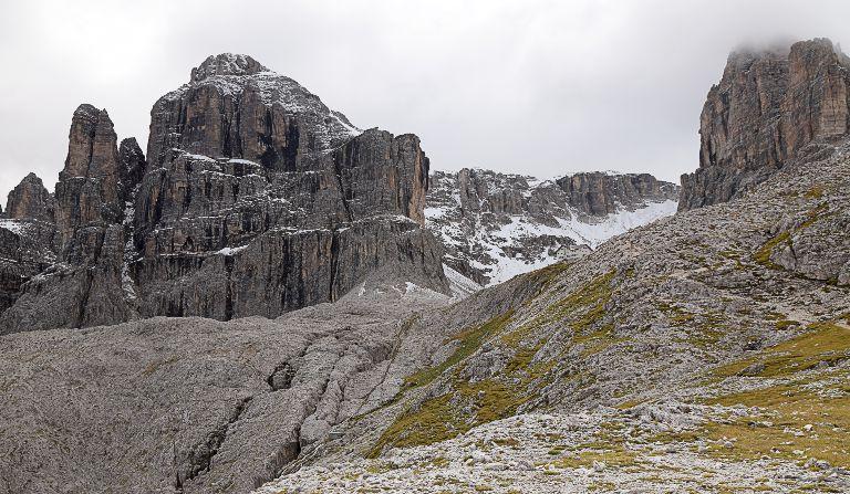 Klettersteig Pisciadu : Pisciadù klettersteig und cima m dolomiten