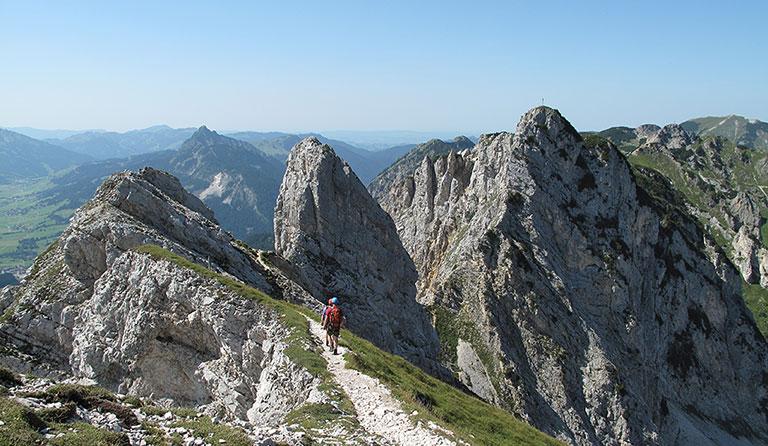 Friedberger Klettersteig : Rote flüh m friedberger klettersteig schartschrofen