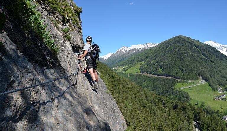 Klettersteigset Montieren : Stafflacher wand 1430 m über peter kofler klettersteig