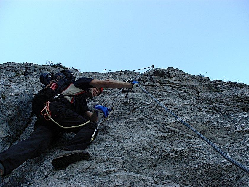 Klettersteig Tajakante : Hinterer tajakopf