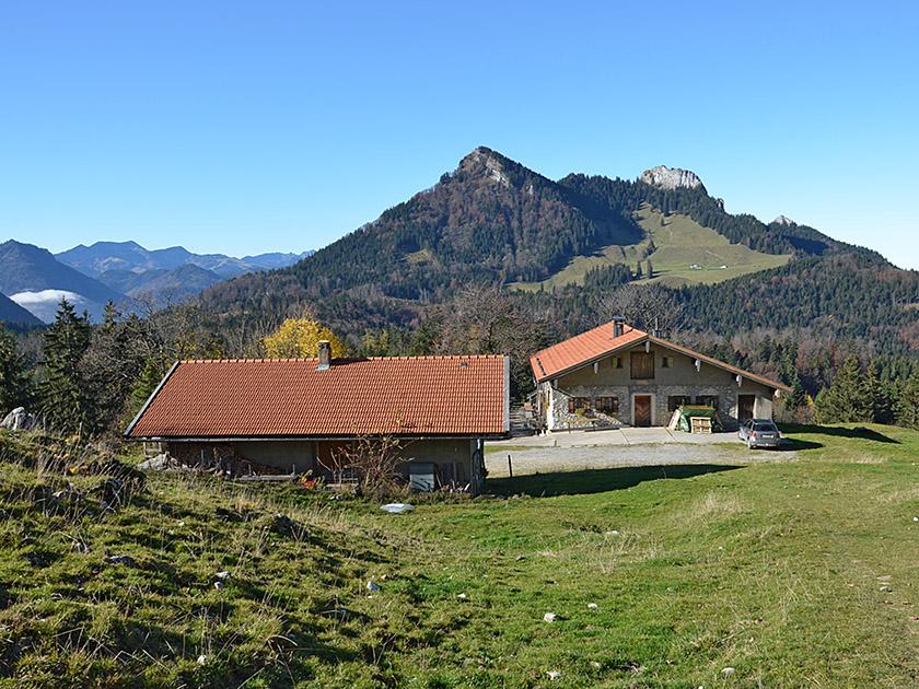 Wagneralm (1018 m) in den Chiemgauer Alpen